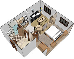 Apartment lay-out 2/4 – Type C